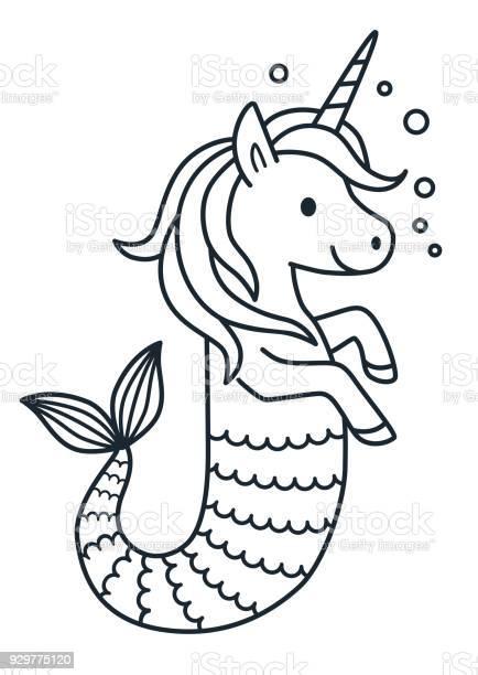 Unicorn Coloring Book Free Vector Art 25 Free Downloads