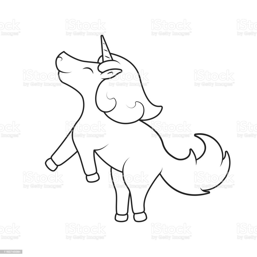 - Cute Unicorn Outline Picture For Baby Coloring Book Fancy Magical