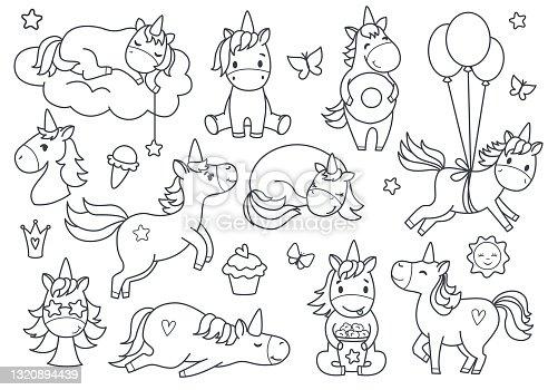 Cute unicorn set.