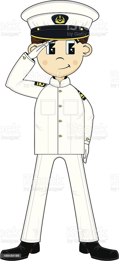 Cute US Marine Officer Saluting royalty-free cute us marine officer saluting stock vector art & more images of adult