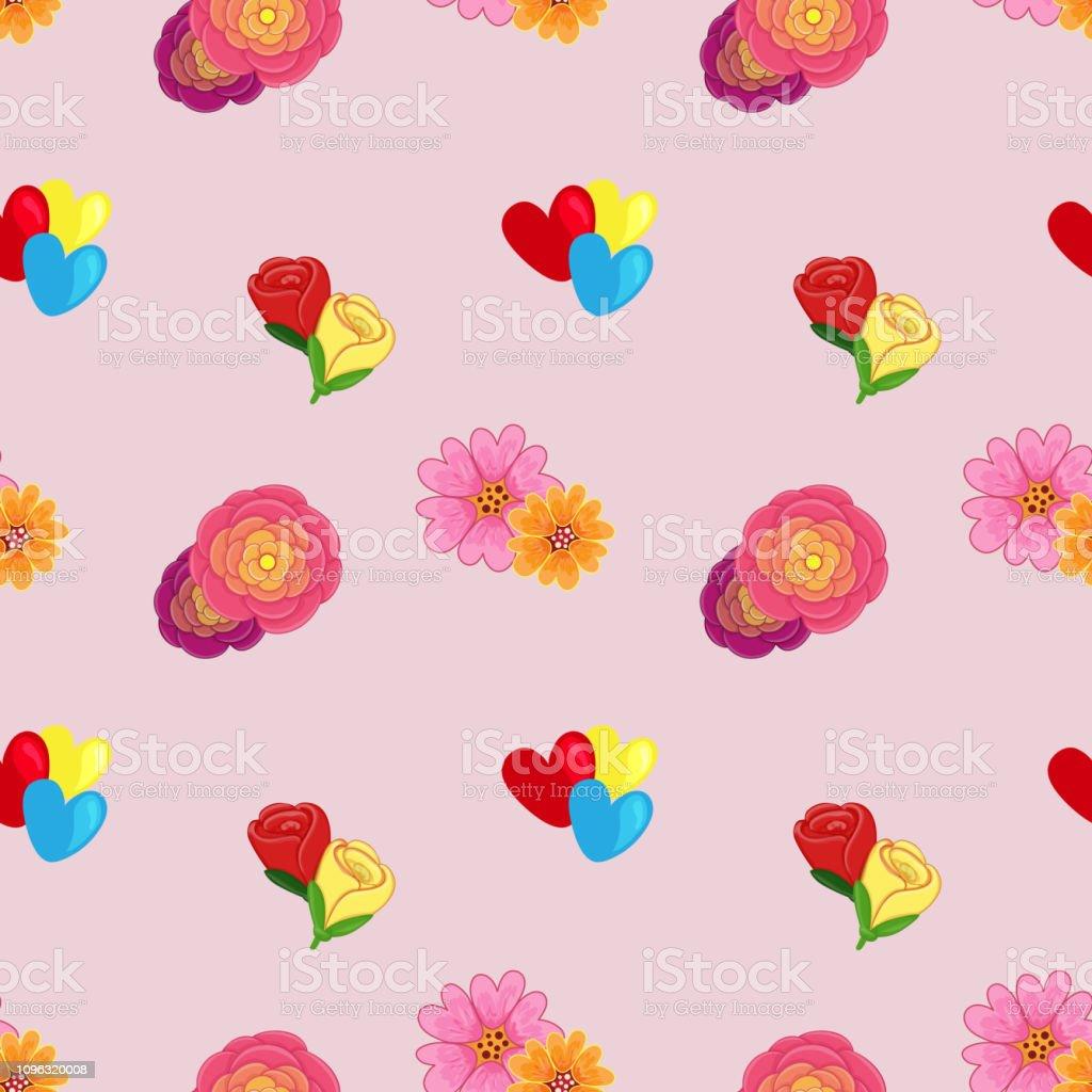 Vetores De Padrão De Florzinha Fofo Dia Dos Namorados E Mais
