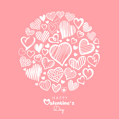 Cute Valentine Hearts Collage