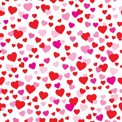 Cute Valentine Hearts Seamless Pattern