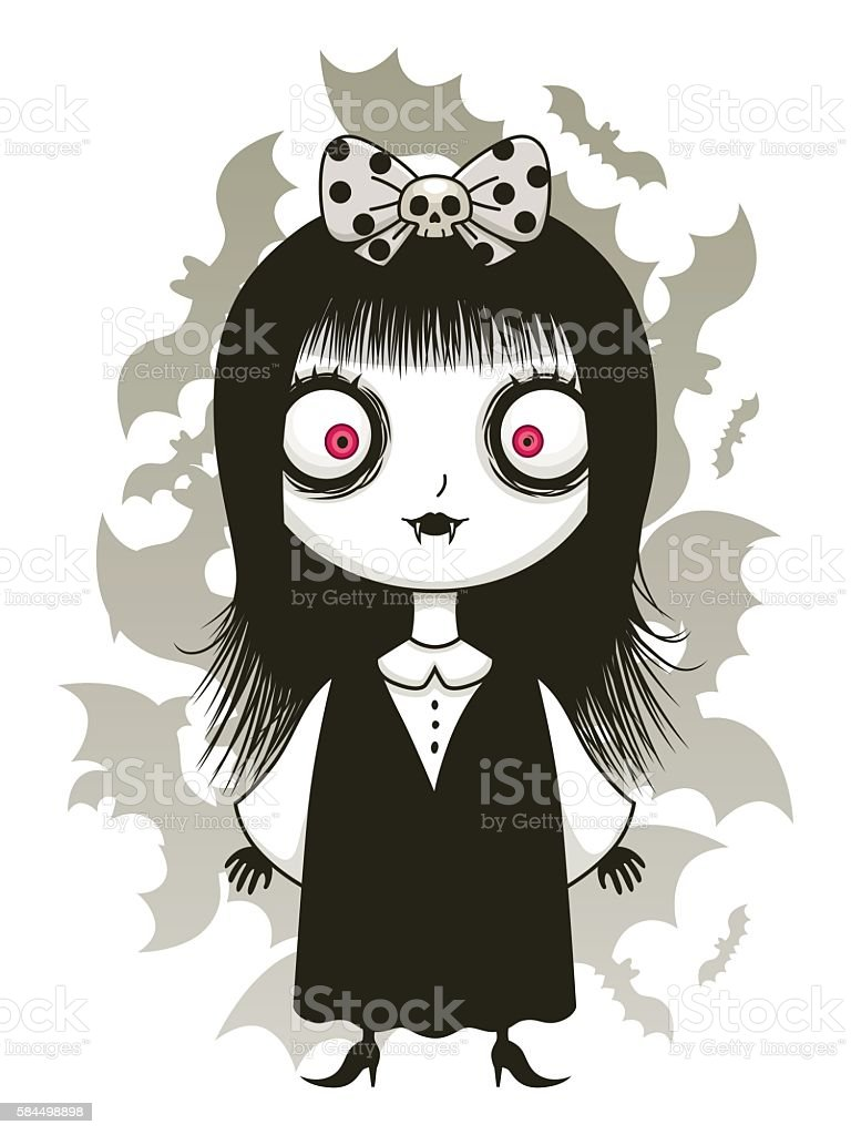 Cute Vampire Girl Stock Vector Art & More Images of ...