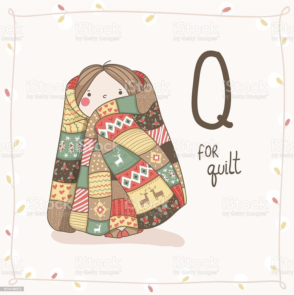 Cute Vector Alphabet Christmas Leter Q Quilt stock vector art ... : q for quilt - Adamdwight.com