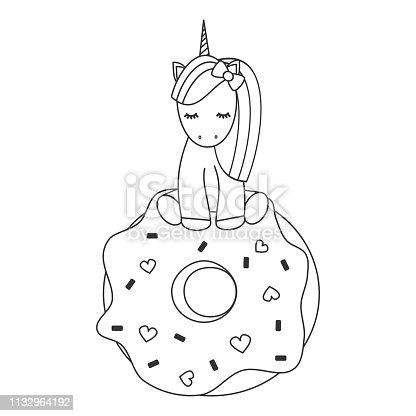 ᐈ Imagen De Gato Con Maíz Y Donat O Unicornio En Vector