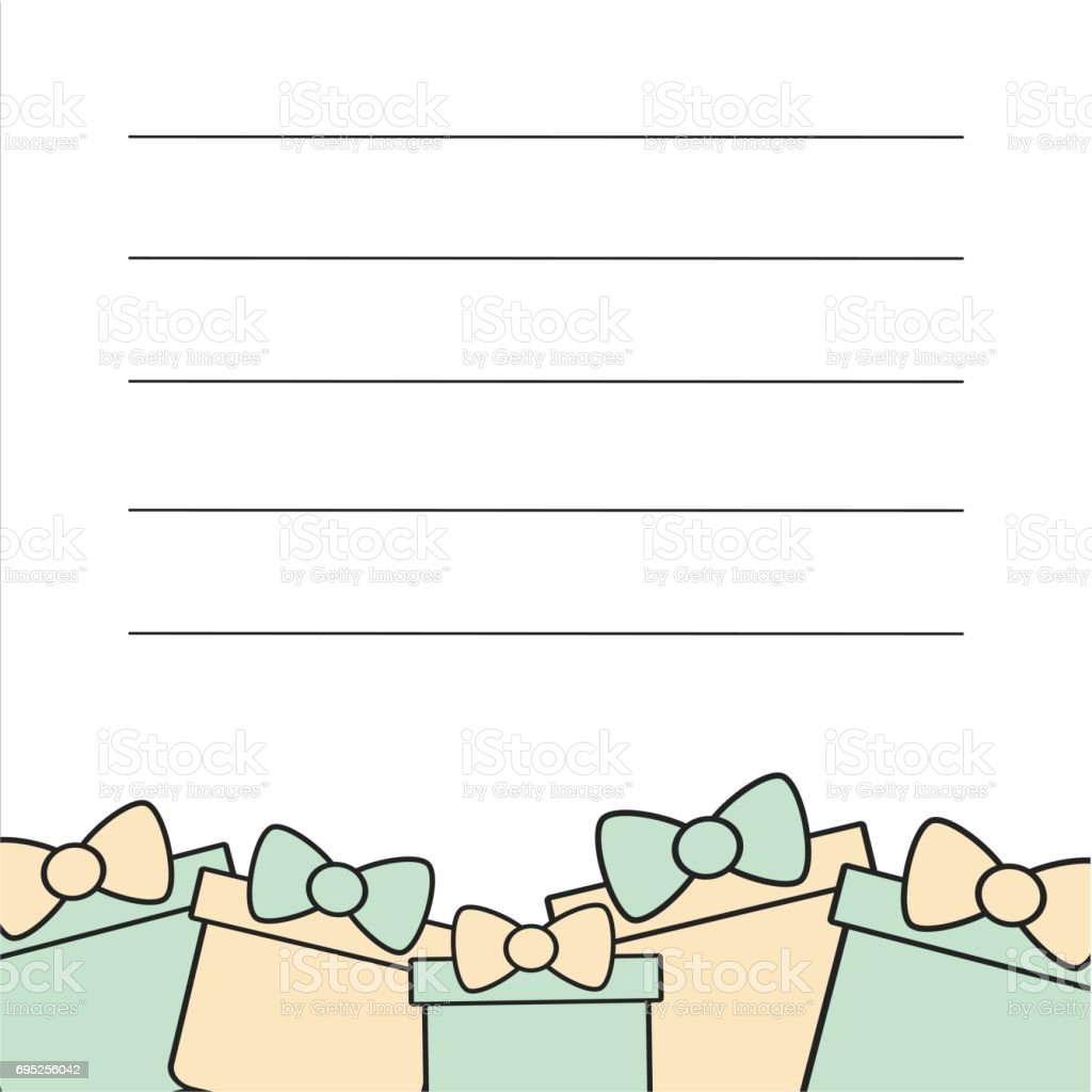 cute vector card frame template for greeting invitation and notes