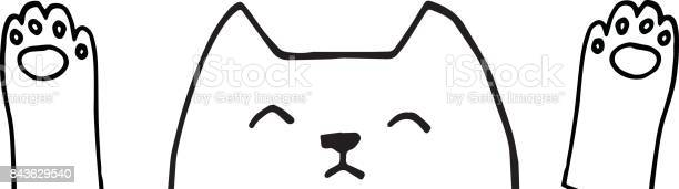 Cute vector cat face with paws hand drawn outlines illustration vector id843629540?b=1&k=6&m=843629540&s=612x612&h=vlwc  4kw0jzrymjotinwn81glmoitrz5s 4dklwr9o=