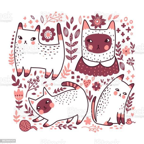 Cute vector cats vector id882895434?b=1&k=6&m=882895434&s=612x612&h=dsmv5 x5m8x ly6me0mma59zsytyhraz2er7tcegz9e=