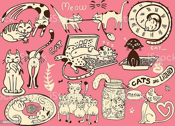 Cute vector catsfunny doodle wallpaper vector id494025512?b=1&k=6&m=494025512&s=612x612&h=u4wfg4vxud7tch mfsc9wrvtoo92ba4zzgtu81ecioq=