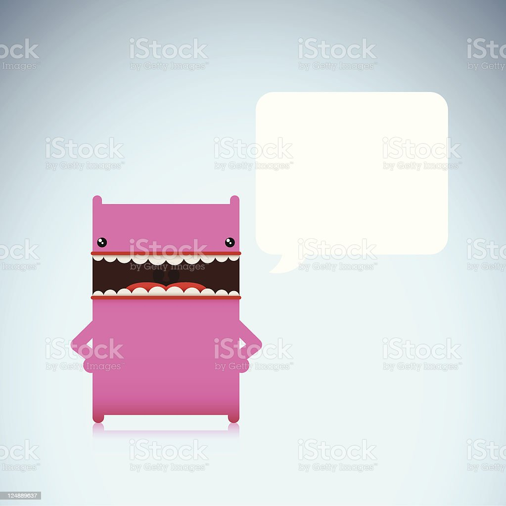 Cute Vector Character With Annoyed Expression vector art illustration