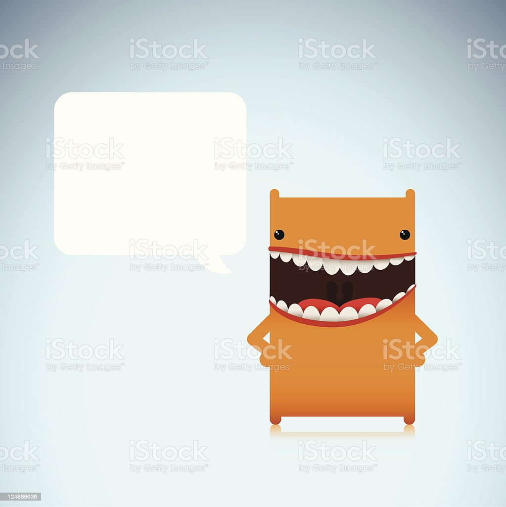 Cute Vector Character With Happy And Confident Expression royalty-free stock vector art