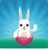 white rabbit is waving to you.