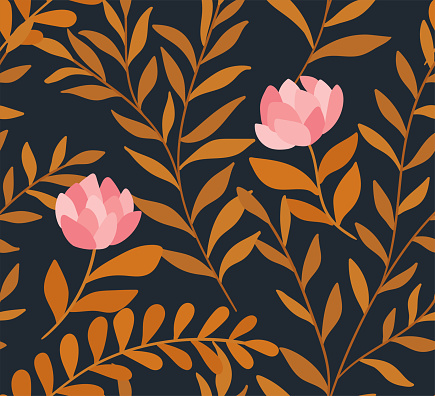 Cute Vector Floral Seamless Pattern Colorful Flowers Background Trendy Repeat Texture For Fashion Print Wallpaper Or Fabric Stock Illustration Download Image Now Istock