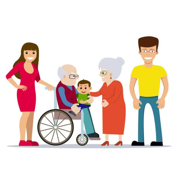 Niedliche Vektor-Illustration der glückliche Großeltern – Vektorgrafik