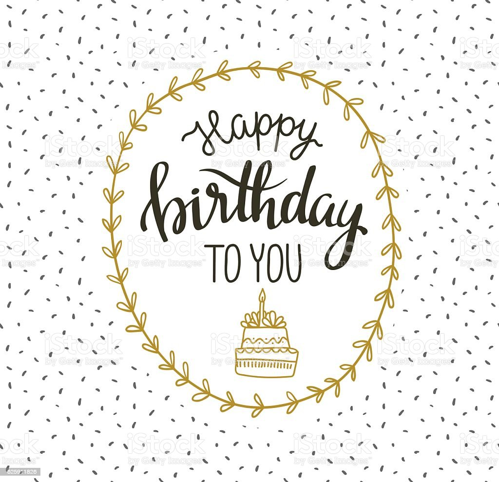 Happy Birthday Lettering Maker ~ Cute vector illustration with lettering happy birthday to you stock art more images of