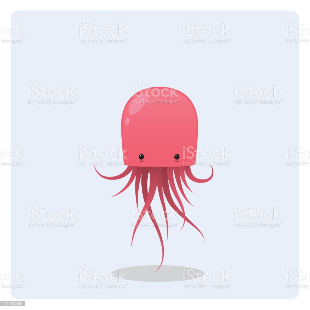 Cute Vector Pink Floating Jellyfish royalty-free cute vector pink floating jellyfish stock vector art & more images of animal