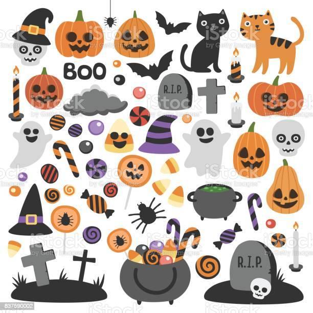 Cute vector set with halloween illustrations vector id837590002?b=1&k=6&m=837590002&s=612x612&h= iikiwominn gl0jvsrw2cddvqiawmmuk3hf7mbesgy=