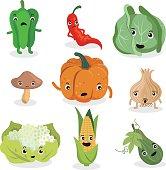 Cute Vegetable characters 02
