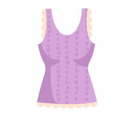 Cute vibrant elegant purple blouse