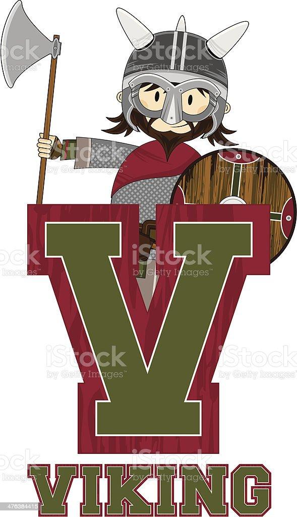 Cute Viking Warrior Learning Letter V royalty-free cute viking warrior learning letter v stock vector art & more images of adult