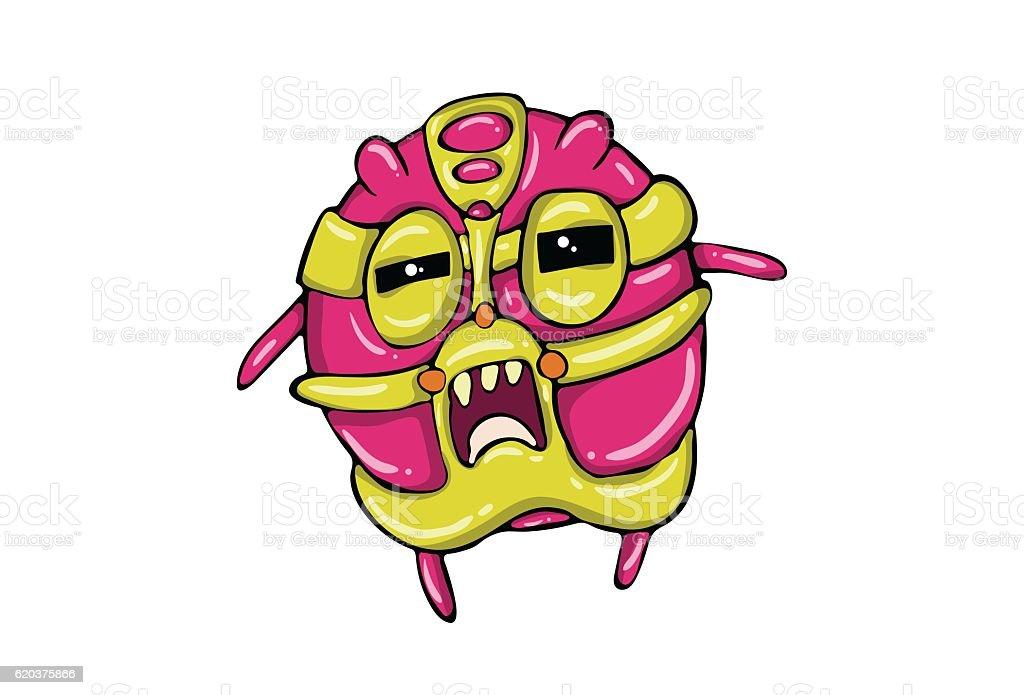 Cute Villain opened eye and mouth Emoticon. Vector Illustration. cute villain opened eye and mouth emoticon vector illustration - arte vetorial de stock e mais imagens de animal royalty-free