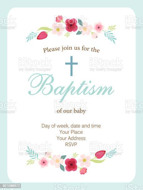 Cute vintage baptism invitation card with hand drawn flowers vector id921098572?b=1&k=6&m=921098572&s=612x612&h=ul upvdd0vxv40v2mfikfbr1yjft7o80hjrbtr3z5f4=