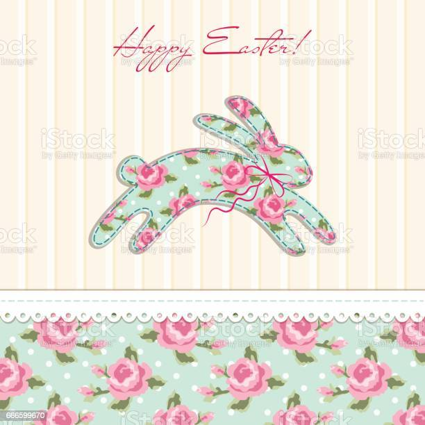 Cute vintage easter card in shabby chic style with bunny vector id666599670?b=1&k=6&m=666599670&s=612x612&h=8whijo2sh dmbssnfcspictwskixyz5ybnradyv233g=