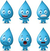 Vector illustration cartoon of a cute water character