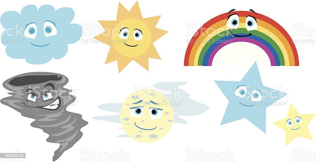 Cute Weather Icons royalty-free cute weather icons stock vector art & more images of cartoon