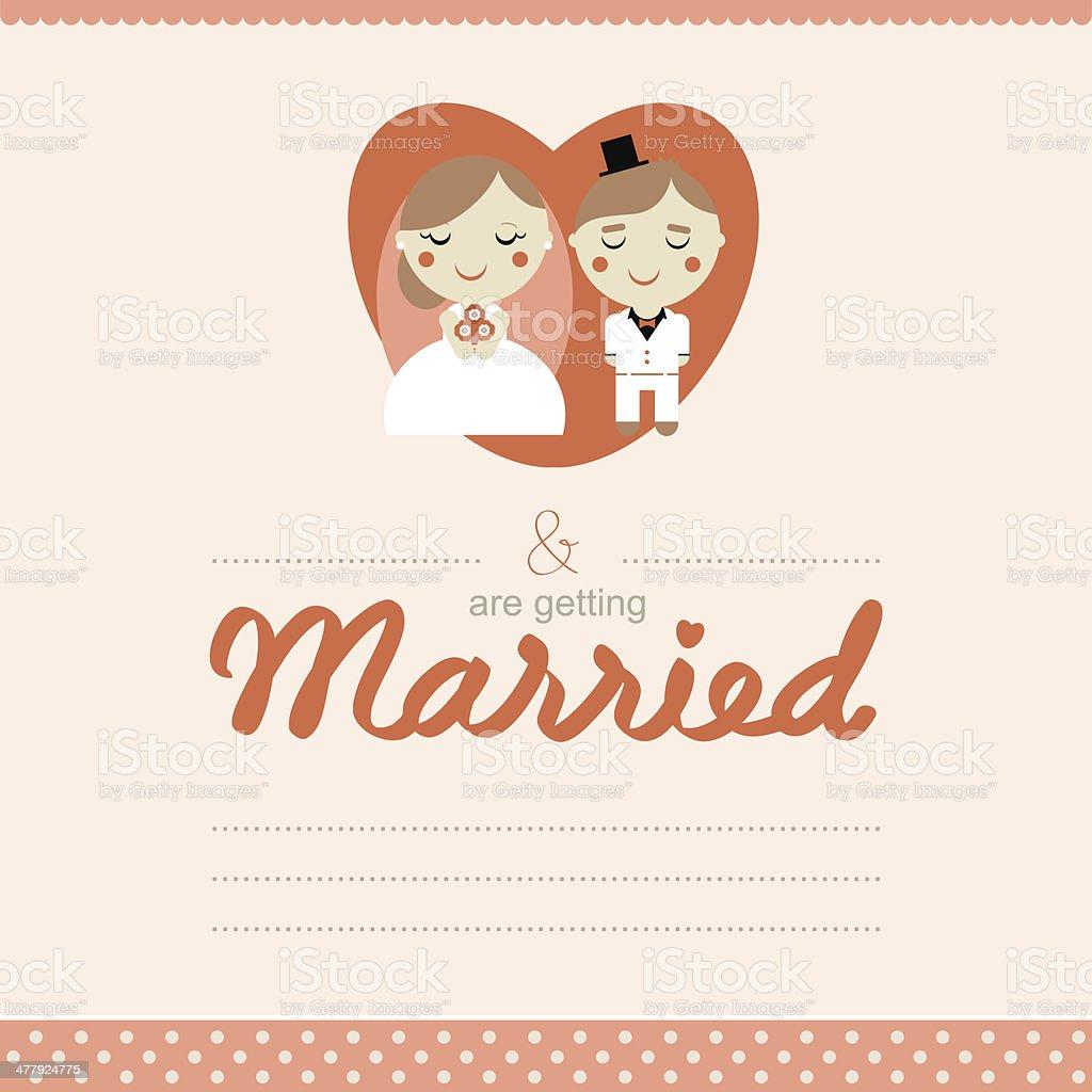 Cute Wedding Card Royalty Free Stock Vector Art