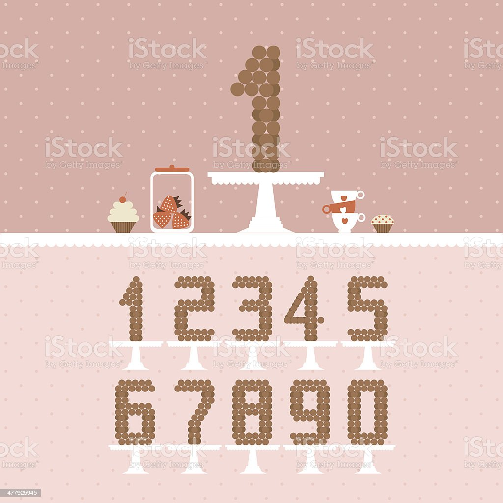 Cute Wedding Template With Table Numbers Stock Illustration