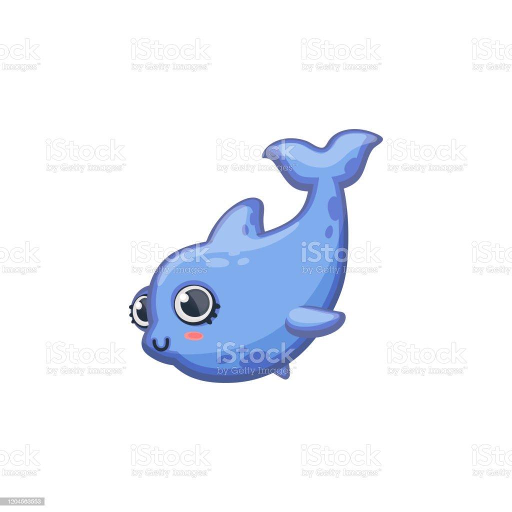 かわいいクジラやイルカ漫画可愛いキャラクターベクトルイラストが孤立 ひれのベクターアート素材や画像を多数ご用意 Istock