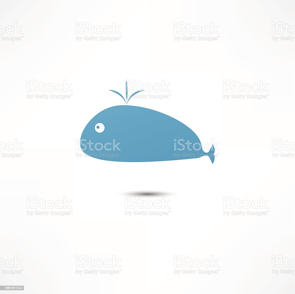 Cute Whale royalty-free stock vector art