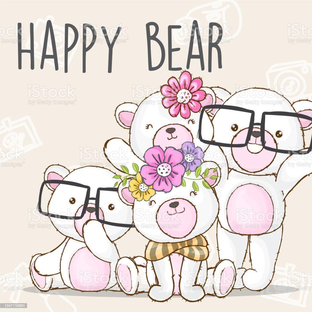 Cute White Bear Family Cartoon Illustration For Kids Stock Illustration Download Image Now Istock