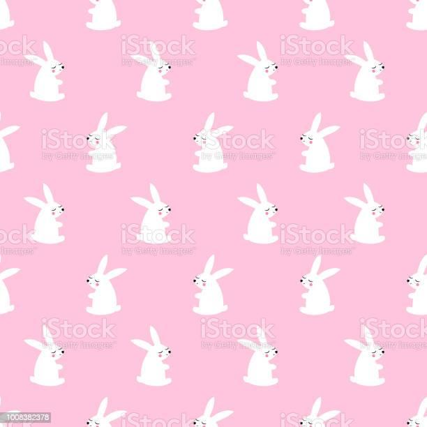 Cute white bunny seamless pattern on pink background vector id1008382378?b=1&k=6&m=1008382378&s=612x612&h=qaeliqfx6xojg8mesbrknceknjadosmgjo4 7g0tlao=