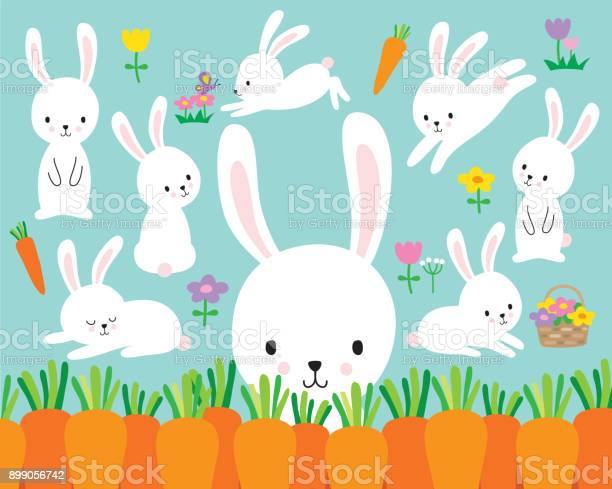 Cute white easter bunny rabbit vector illustration vector id899056742?b=1&k=6&m=899056742&s=612x612&h=nx3cg 4yph2i2sqplky7354o6 3dlwcofdrmx1rqr3c=