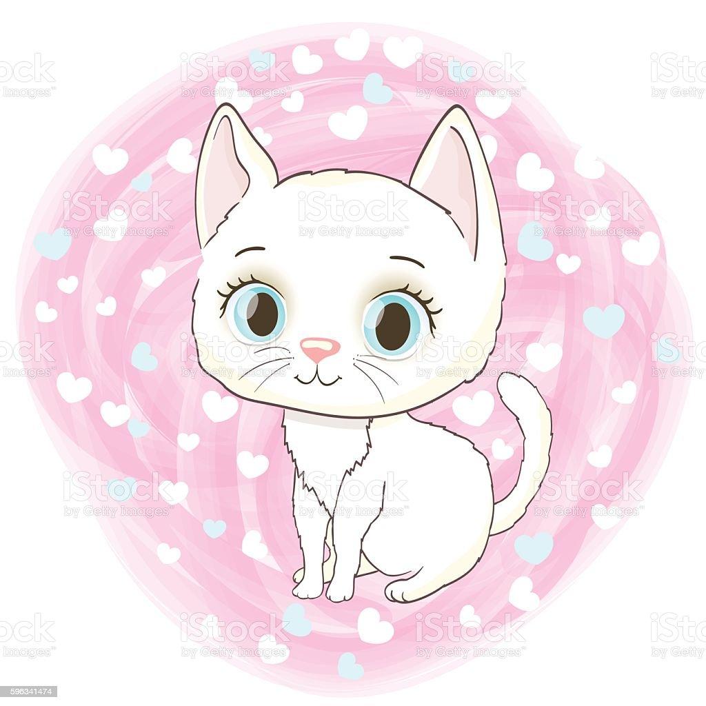 cute white kitten royalty-free cute white kitten stock vector art & more images of animal