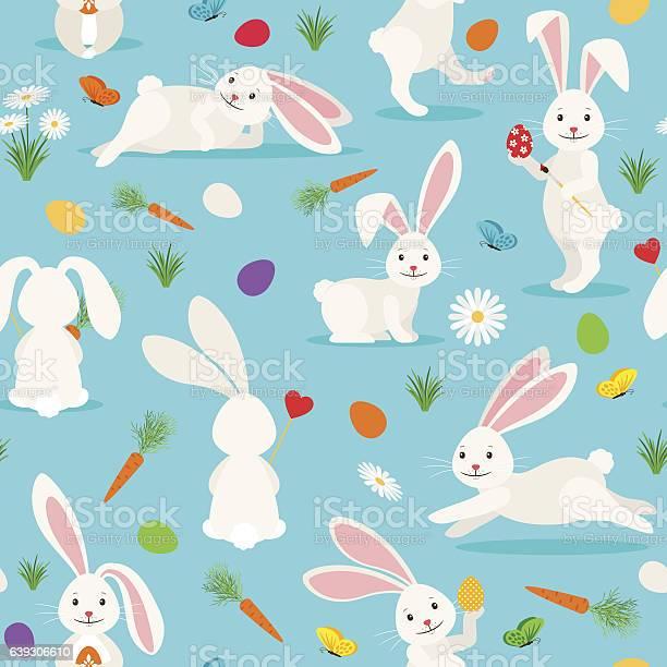 Cute white rabbit seamless pattern vector id639306610?b=1&k=6&m=639306610&s=612x612&h=spg  sesrabjoey7y0mice hpgjpllyu8 6ljmdllao=