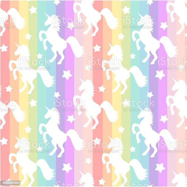 Cute white unicorns silhouette on rainbow colorful stripes seamless vector id690339394?b=1&k=6&m=690339394&s=612x612&h=8b8thceizup69hgavjr s0tdqyvs 81aecjst ay 9m=