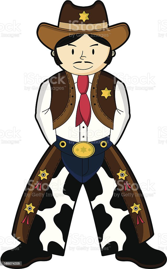 Cute Wild West Cowboy Sheriff royalty-free cute wild west cowboy sheriff stock vector art & more images of adult