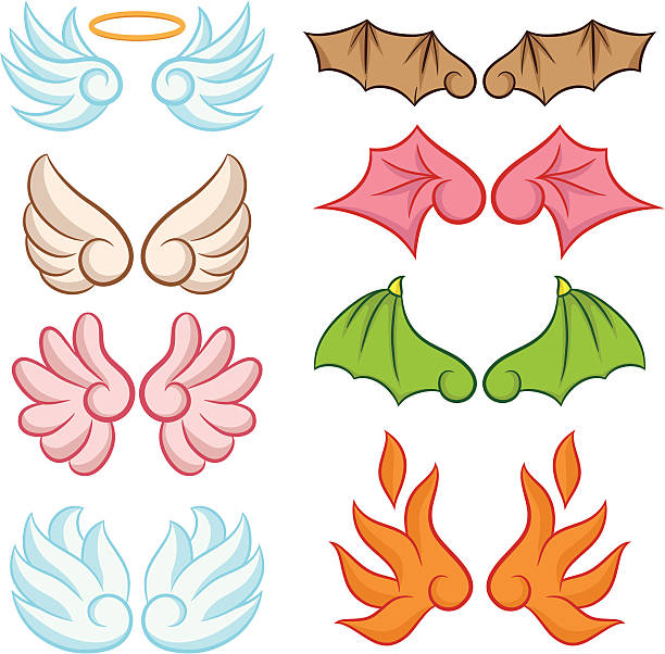 Cute Wings Collections vector art illustration