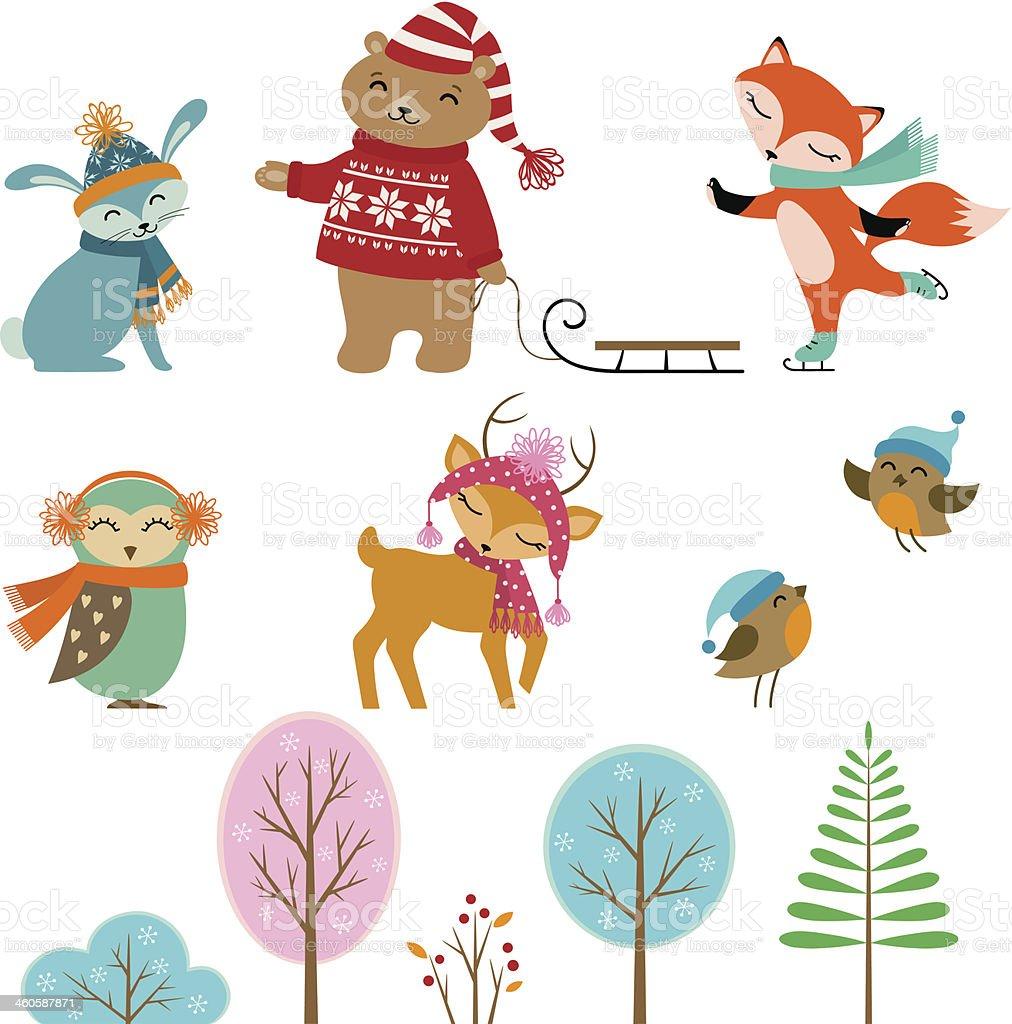 かわいい冬の動物 - アナウサギのベクターアート素材や画像を多数ご用意