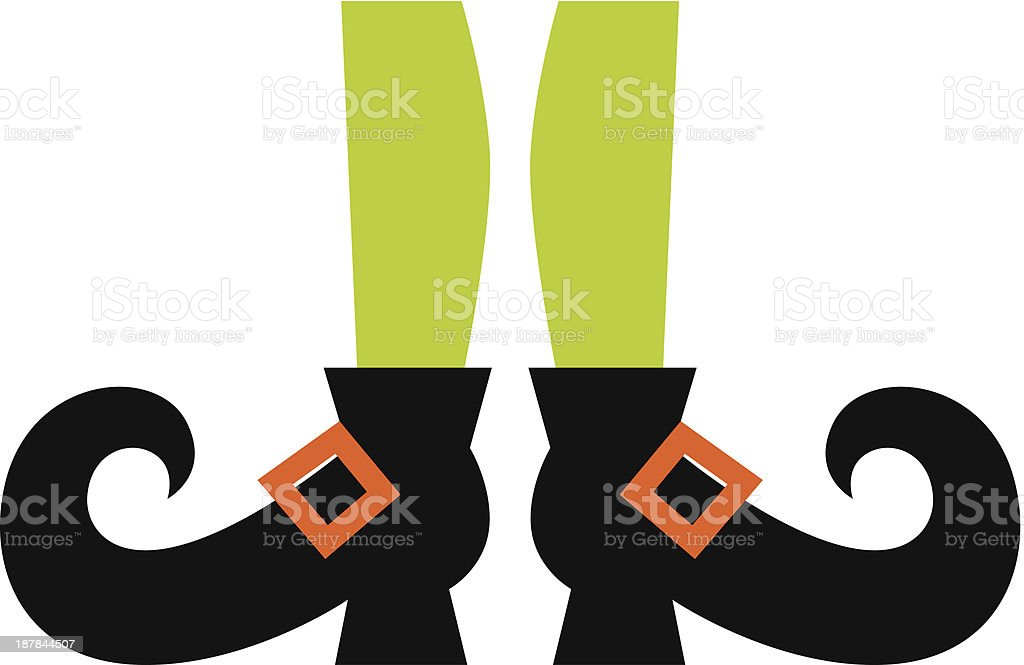 Cute Witch legs isolated on white royalty-free stock vector art