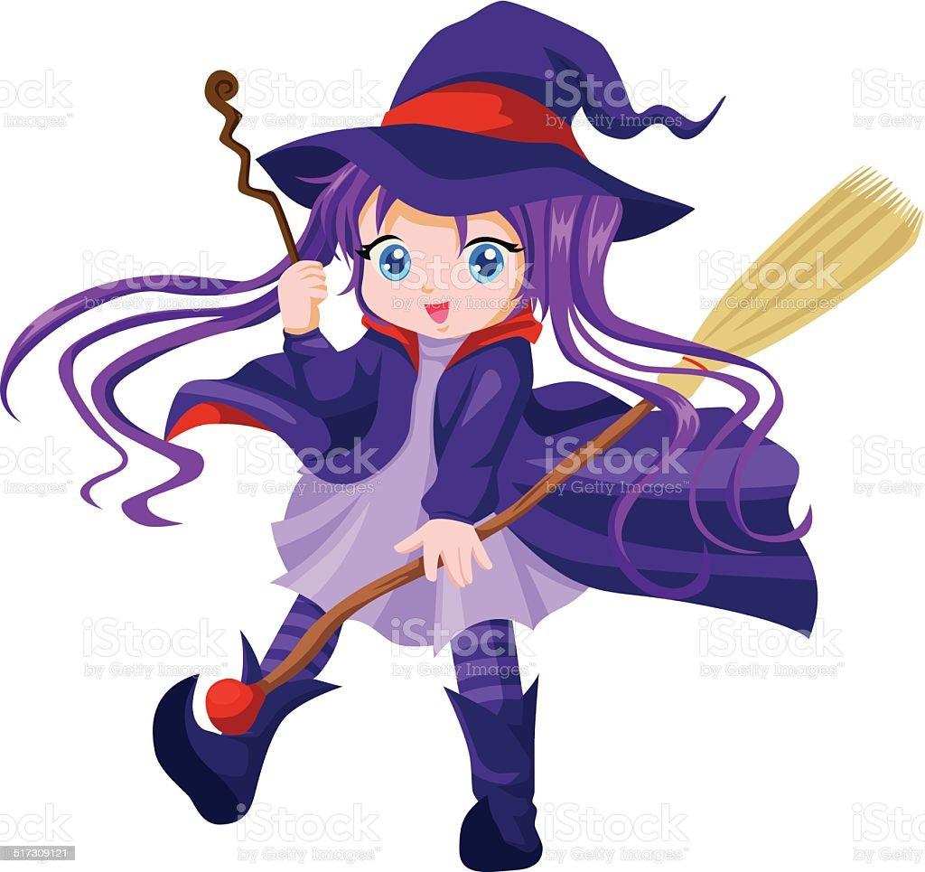 かわいい魔女 1人のベクターアート素材や画像を多数ご用意 Istock