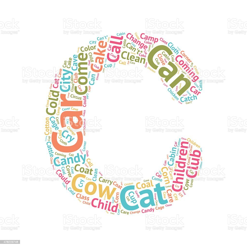 Cute Word Cloud ABC Letters