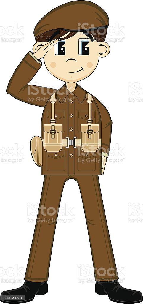 Cute Ww2 British Army Private Stock Illustration - Download