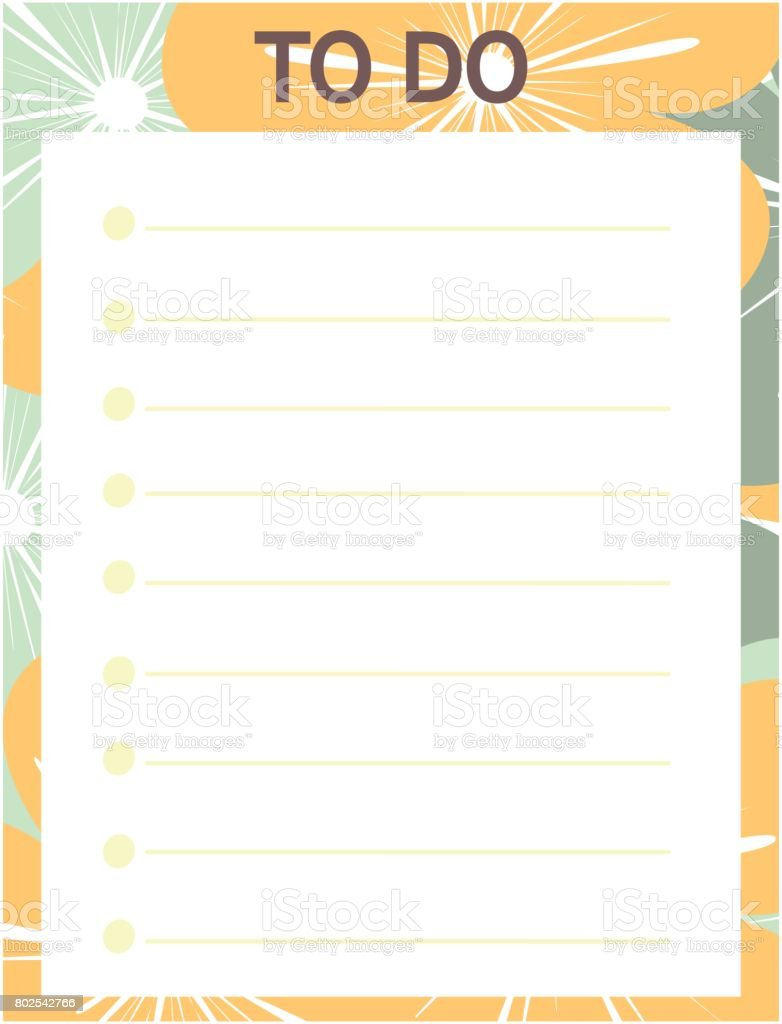 photo relating to Cute Printable to Do List identify Lovable Yellow Blue Vector Printable In direction of Do Checklist With Bouquets