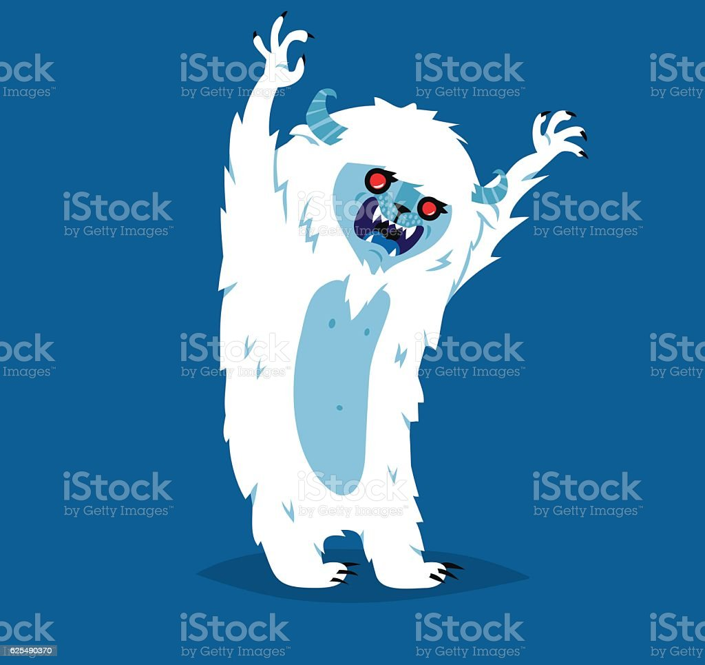 Cute yeti biigfoot monster vector set. vector art illustration