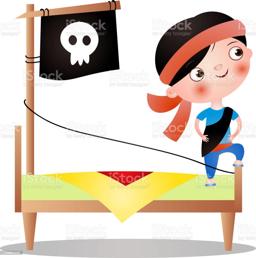 赤いバンドを持つかわいい若い男の子は海賊を作ります イラストレーションのベクターアート素材や画像を多数ご用意 Istock